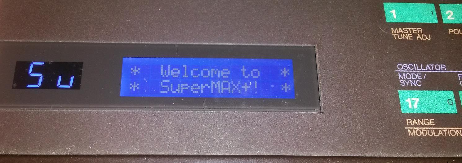 SuperMAX plus LCD screen